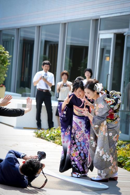 撮影中の1コマ*ANAクラウンプラザホテル神戸写真室